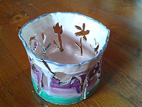 Svietidlá a sviečky - kvietkový svietnik - 6866147_