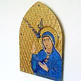 Hodiny - Ručne maľované hodiny - Panna Mária Trnavská - 6866349_