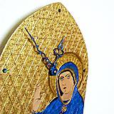 Hodiny - Ručne maľované hodiny - Panna Mária Trnavská - 6866350_