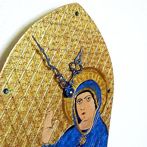 Ručne maľované hodiny - Panna Mária Trnavská