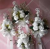 Kytice pre nevestu - svadobná kytica pre nevestu s pierkami - 6863680_
