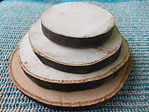 - vintage svadba/podložky z drevených plátov - 6863774_