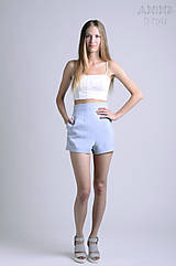 Nohavice - Vintage šortky Anita  |  bledomodrá studená | M - 6866592_