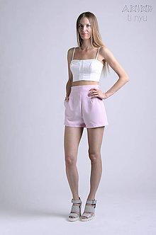 Nohavice - Vintage šortky Anita - baby pink    rôzne farby - 6866633_