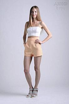 Nohavice - Vintage šortky Anita - broskyňová |  rôzne farby - 6866683_