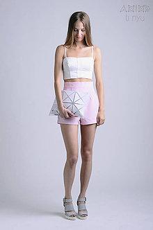 Kabelky - Taška Arika s geometrickým vzorom   priehľadná - 6866721_