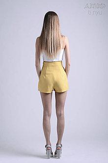 Nohavice - Vintage šortky Anita - okrová    rôzne farby - 6866742_