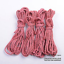 Nezaradené - Jutový provaz 5 mm lososový – 4 ks pro bondage - 6862877_