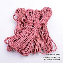 Nezaradené - Jutový provaz 5 mm lososový – 6 ks pro bondage - 6862890_