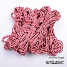 Nezaradené - Jutový provaz 5 mm lososový – 8 ks pro bondage - 6862897_