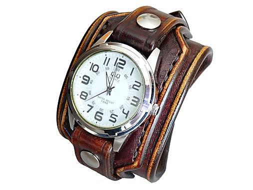 450ad5121 Kožené hodinky Q&Q vintage hnedá / leon - SAShE.sk - Handmade Náramky