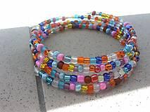 Náramky - Pestrofarebný letný náramok - 6863890_