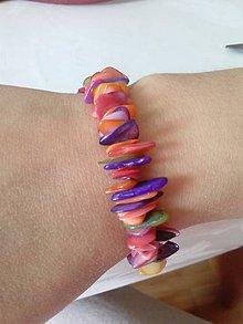 Náramky - Perleťový dúhový farebniak - 6865236_