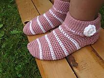 Obuv - Ružové,členkové ponožky-na sklade - 6863668_