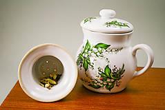 Nádoby - Set 3 šálky na sypaný čaj + Nádoba na med 850ml - 6865065_