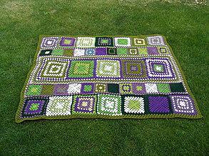 Úžitkový textil - Deka - Olivy a hrozno - 6863783_