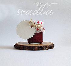 Darčeky pre svadobčanov - Výslužka-Džemík náš každodenný - 6862936_