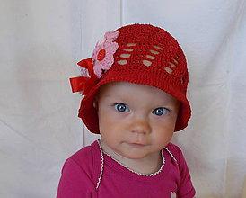 Detské čiapky - Bordový dievčenský klobúčik - 6865608_