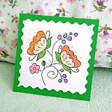 Papiernictvo - Mini folk pohľadnica 7 - 6862950_