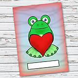 Papiernictvo - Žabí zápisník (vlny (zamilovaný)) - 6866070_