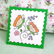 Papiernictvo - Mini folk pohľadnica - 6862950_