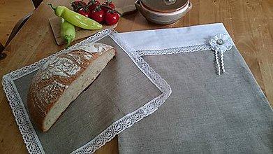 Úžitkový textil - Vrecko na chlebík - 6868712_