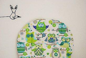 Textil - Sovičková podložka do kočíka zelená - 6868563_