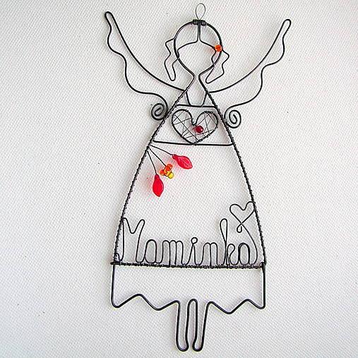 anjelka s menom 17cm - mama