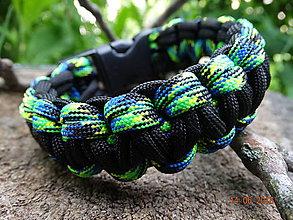 Šperky - Pánsky náramok Cobra paracord - 6869812_
