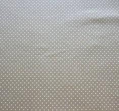 Textil - Svetlo zelená s bielou bodkou - 6869667_