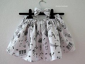Detské oblečenie - notová suknička - 6870277_