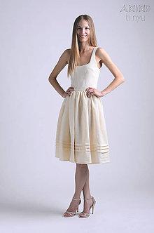 Šaty - Šaty Zsejke   prírodný materiál - 6867674_