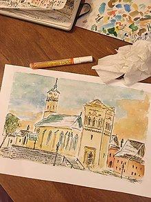 Obrazy - Kostol sv. Juraja pocas Vianoc - 6869644_