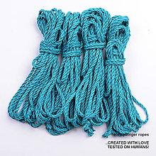 Nezaradené - Jutový provaz 5 mm tyrkysový – 4 ks pro bondage - 6868130_