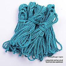 Nezaradené - Jutový provaz 5 mm tyrkysový – 6 ks pro bondage - 6868141_
