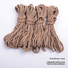 Nezaradené - Jutový provaz 5 mm přírodní – 4 ks pro bondage - 6868171_