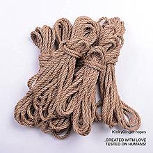 Nezaradené - Jutový provaz 5 mm přírodní – 6 ks pro bondage - 6868181_