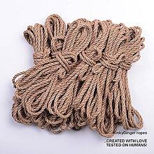 Nezaradené - Jutový provaz 5 mm přírodní – 8 ks pro bondage - 6868197_