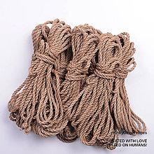 Nezaradené - Jutový provaz 7 mm přírodní – 8 ks pro bondage - 6868622_
