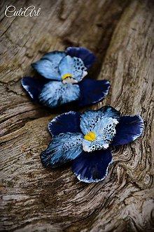 Dekorácie - Orchidea Jeans - sada dekoračných kvetov - 6867641_
