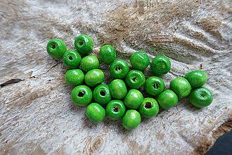 Korálky - Drevená korálka zelená 8mm - 6869210_
