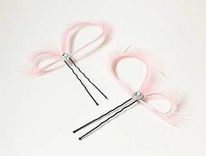 Ozdoby do vlasov - Ružové fascinátory - ozdoby do vlasov na svadbu - 6868670_