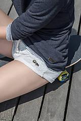 Nohavice - Summertime - kraťase krémovej farby - 6869110_