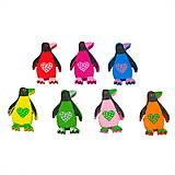 - Drevené korálky tučniačikovia (balíček 5ks) - 6869287_