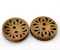 - Drevený gombíček 23mm vyrezávaný - 6869430_