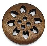 - Drevený gombíček 25mm vyrezávaný - 6869469_