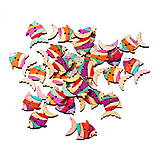 Galantéria - Drevené gombíčky rybičky (balíček 5ks) - 6869721_