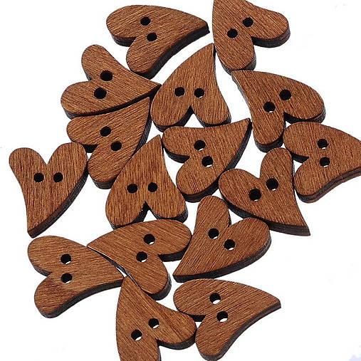 Drevené gombíčky srdiečka (veľký balíček 50ks pre tvorilky)