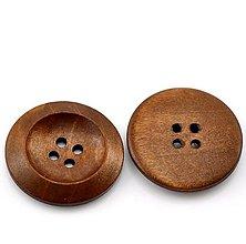 Galantéria - Drevený gombík 3cm - 6868973_