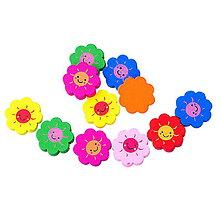 Korálky - Drevené korálky kvetinky (balíček 10ks) - 6869300_